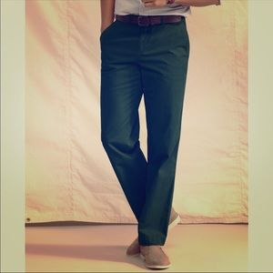 Tommy holdover custom fit dark green chino pants